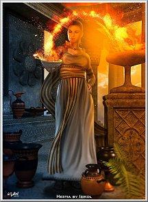 Greek Goddess: Hestia   print : card : ecard : more 081